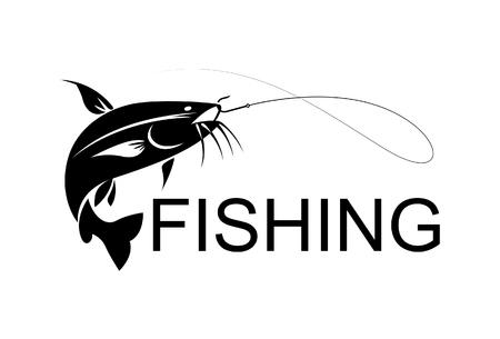 bagre: siluro pesca Vectores