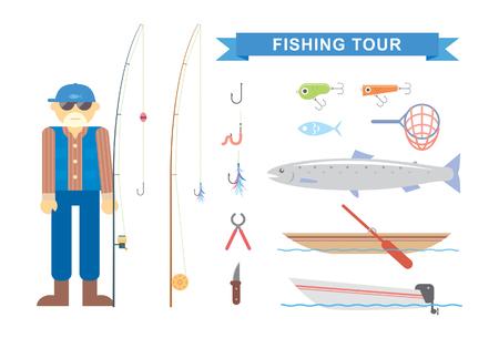 fishing: Illustration fisherman
