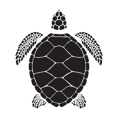 sea turtle: Graphic sea turtle