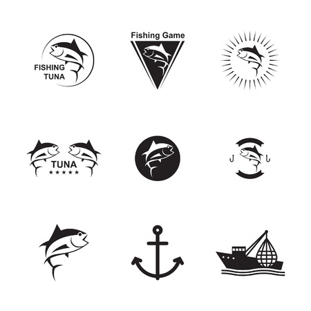 Set of Symbols Fishing Ilustrace