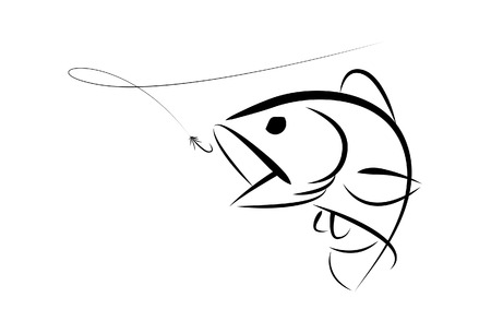 pesca: Bass Fishing gráfico Vectores