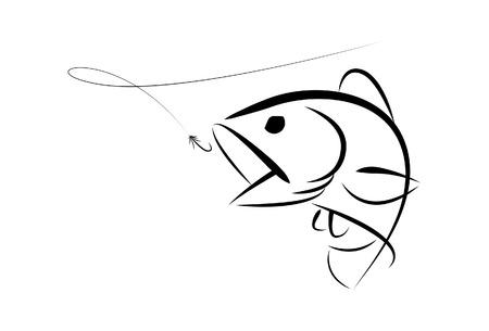 symbol sport: Grafik-Fishing Bass