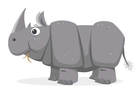 rhinoceros: Cartoon Rhinoceros