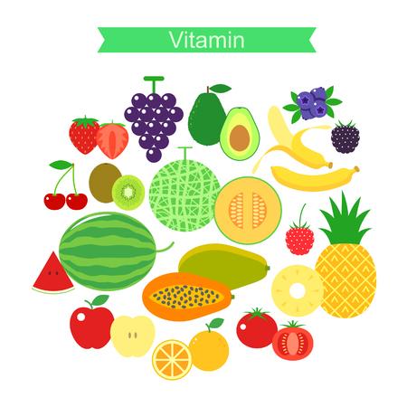 black berry: fruit icon set