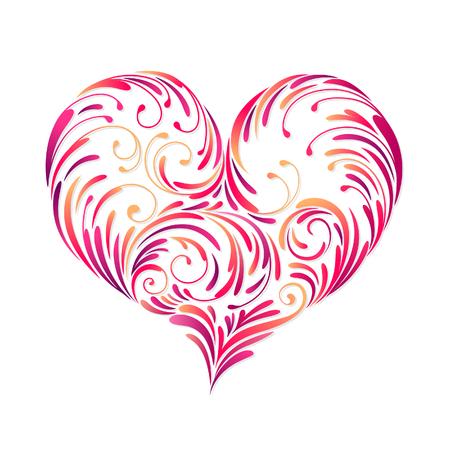 perforate: design of heart Illustration