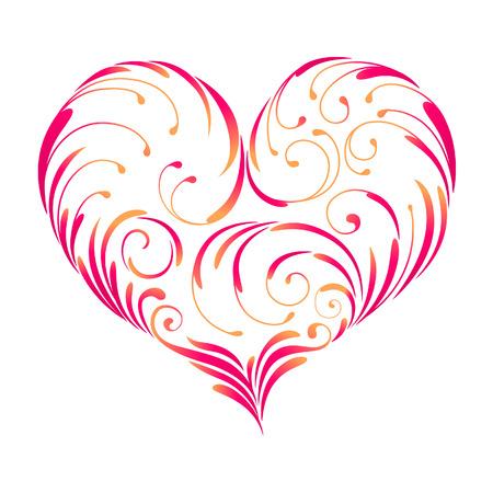 perforate: design heart, vector Illustration