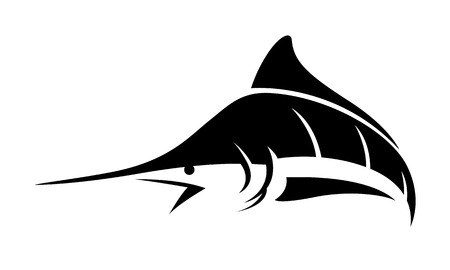 graphic marlin fish, vector Ilustrace
