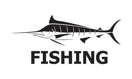 graphic marlin fishing, vector Illustration
