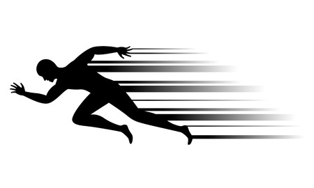 man running, vector Ilustrace
