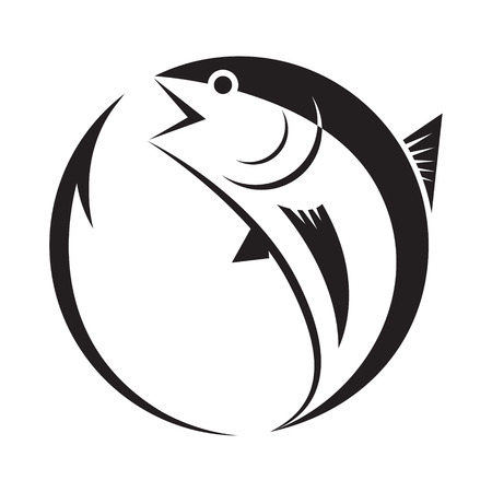 symbol tuna and hook, vector Ilustrace