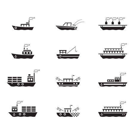 anchor drawing: icon boats, vector Illustration