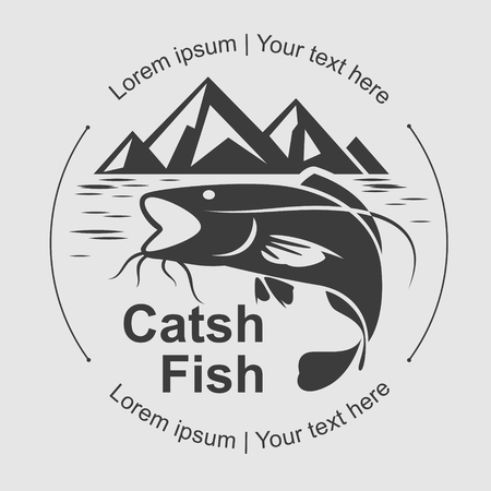 catch fish: catch fish symbol, vector Illustration