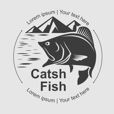 catch: catch fish symbol, vector Illustration