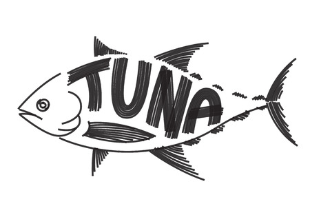 clip art tuna fish on white background