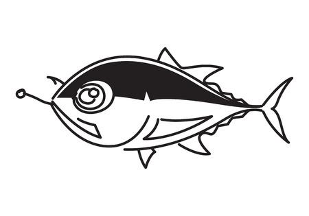 clip art draw: clip art draw fishing tuna on white background