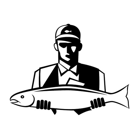 fisher man: Graphic fisherman