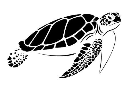 grafika żółwia morskiego, wektor