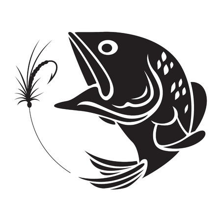 Símbolo de la pesca Foto de archivo - 59567306