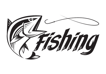 graphic fishing Banco de Imagens - 62318309