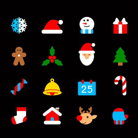christmas icon: christmas icon set
