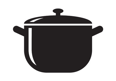 black pot icon Иллюстрация