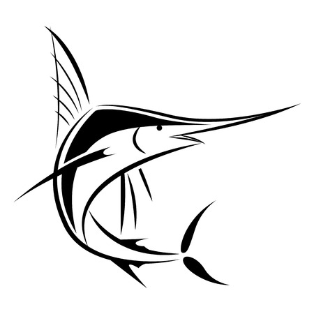 marlin: Graphic Black Marlin