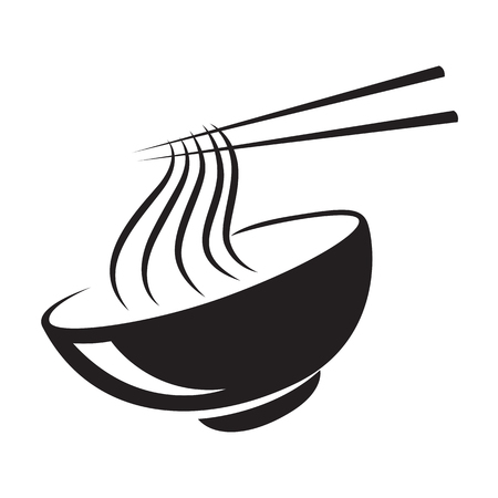 icon black noodle, vector