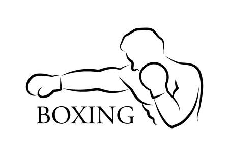 Boxeador gráfico, vector Ilustración de vector