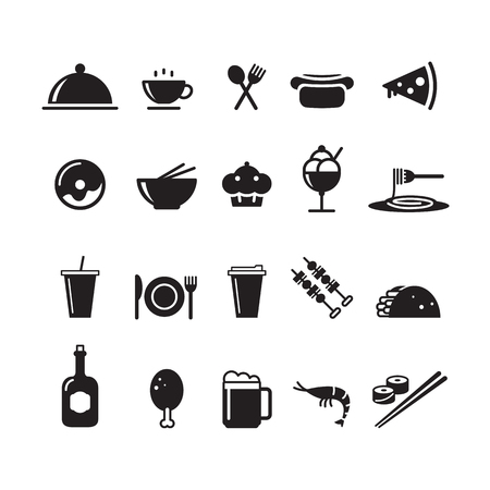 An icon food and drink, vector illustration. Illustration