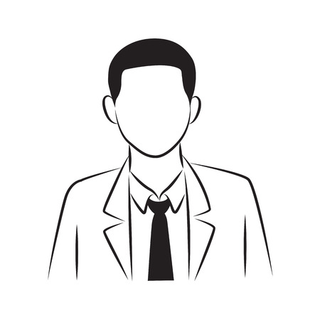 drawing businessman, vector 向量圖像