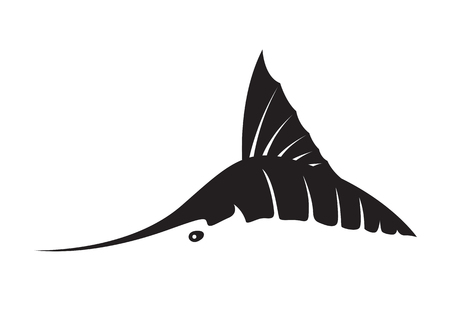 Graphic marlin fish, vector