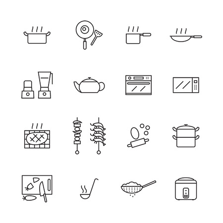 colander: icon Cook, vector Illustration