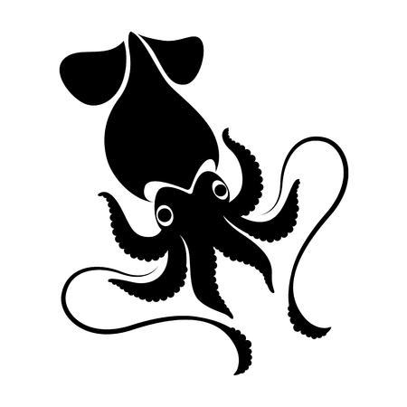 graphic squid, vector Ilustrace