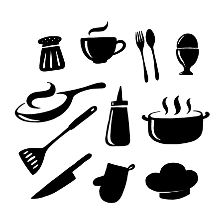 graphic kitchenware, vector