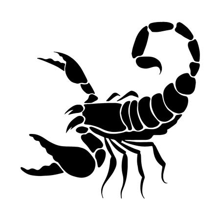 Gráfico escorpión, vector Foto de archivo - 83358540