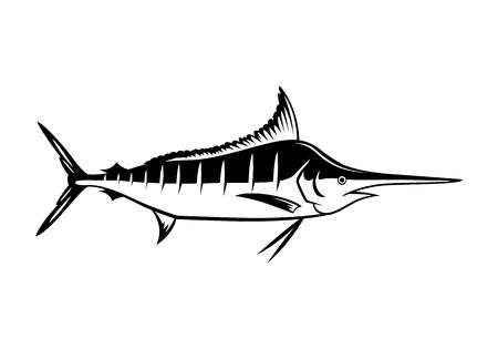 pez vela: Icono de Marlin Gráfico