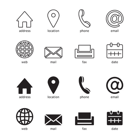 web icons for business, vector