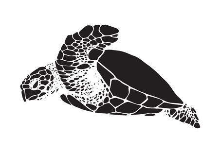A graphic sea turtle vector icon