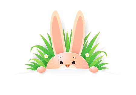 cartoon rabbit, vector Иллюстрация