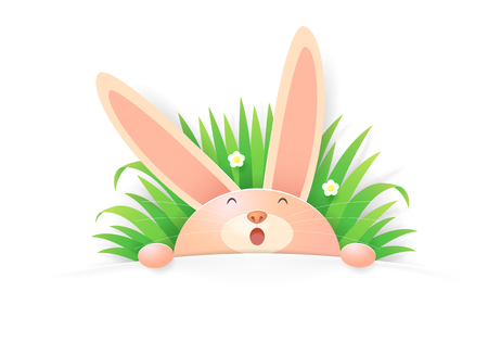 Cartoon rabbit vector Иллюстрация