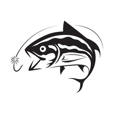 Tuna fishing icon illustration.
