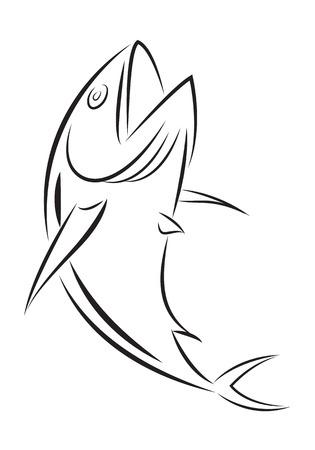 Tuna fish icon illustration. 向量圖像
