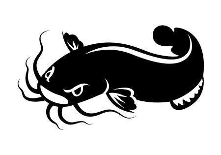 graphic catfish vector icon