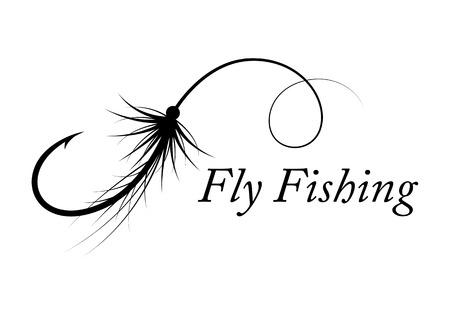 Grafik Fliegenfischen Vektor