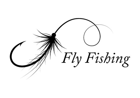 Graphic fly fishing vector Stok Fotoğraf - 97861690