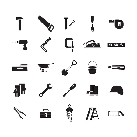 simple icon working tools, vector
