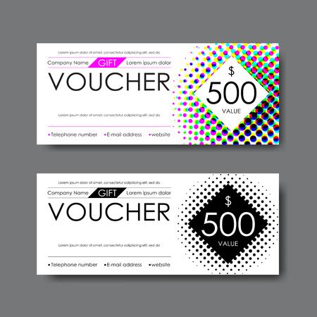 gift voucher template, vector
