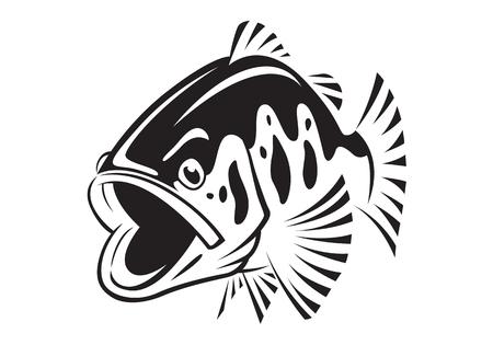 pesce basso grafico, vettore
