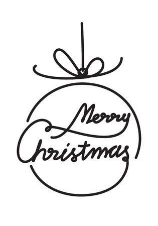 graphic merry Christmas Ilustração