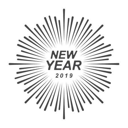 Graphic new year 2019 Ilustração